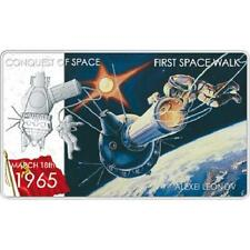 Niue 2011 $2 Conquest of Space First Space Walk A. Leonov 1 Oz Silver Proof Coin