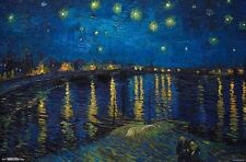 VAN GOGH - STARRY NIGHT OVER THE RHONE - ART POSTER - 22x34 - 14917