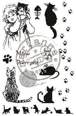 Marianne Design Clear Rubber Stamp SWEET KITTY  CS0914