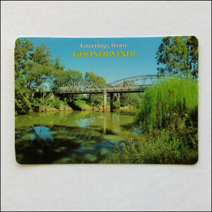 Greetings from Goondiwindi Border Bridge McIntyre River MV Postcard (P353)