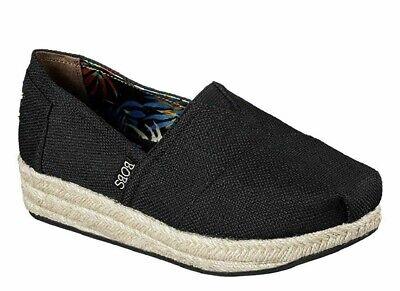 Skechers BOBS Wedge Canvas Shoe Womens