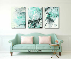 Abstract Colour Stretched Canvas Prints Framed Wall Art Office Decor Painting