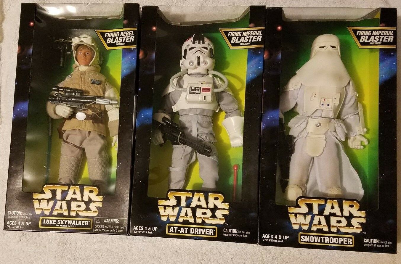 3 Lot Kenner Star Wars Action Coll. 12  MIP Snowtrooper Luke-Hoth  At-At Sealed