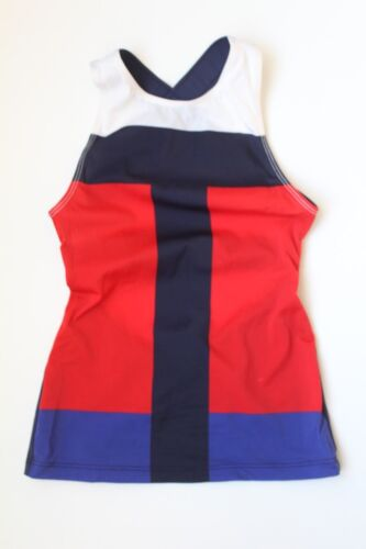 NWT J Crew Pret A Surf Cross Back Tank Red Navy SMALL A8300 UPF 50 Sun $155