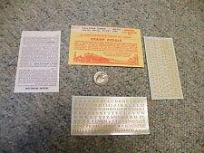 "Champ  decals HO  LG-20 Railroad Roman dulux gold 5/32""  L149"