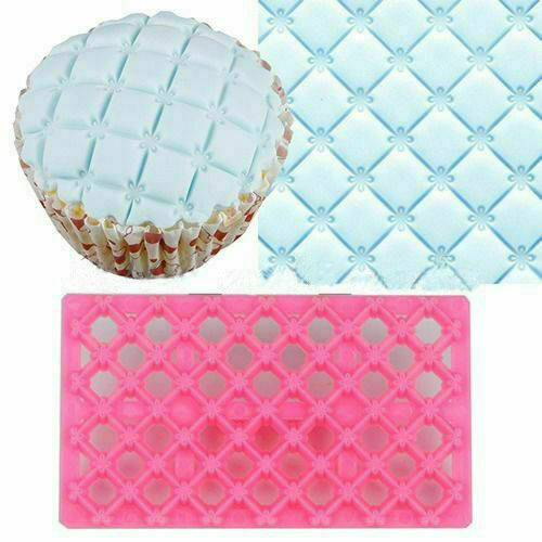 Embosser Mold Decorating  Icing Mould Quilting Cutter Cake Sugarcraft Fondant