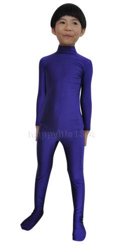 NEW Kid Children Lycra Spandex Zentai costume party Bodysuit Catsuit Unitard