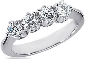 0-81-carat-DIAMOND-WEDDING-RING-Anniversary-Band-F-color-VS-clarity-4-x-0-20-ct