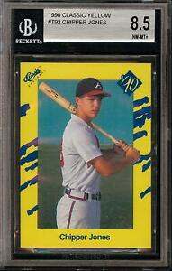 1990 Classic Yellow #T92 HOF Chipper Jones Rookie RC BGS 8.5 Atlanta Braves