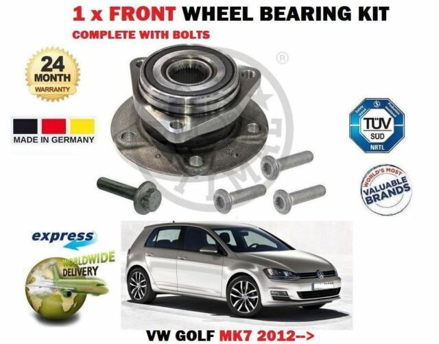 for VW Golf Mk7 GTI R TDI 4motion 2012- 1 X Front Wheel Bearing Kit Complete