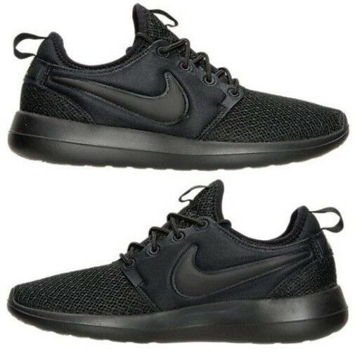 NIKE ROSHE TWO CASUAL WOMEN's BLACK - BLACK AUTHENTIC NEW IN BOX US SIZE 5.5