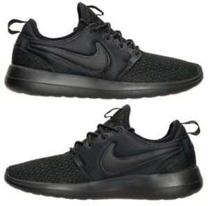 c4f94f468a81 NIKE ROSHE TWO CASUAL WOMEN s BLACK - BLACK AUTHENTIC NEW IN BOX US ...