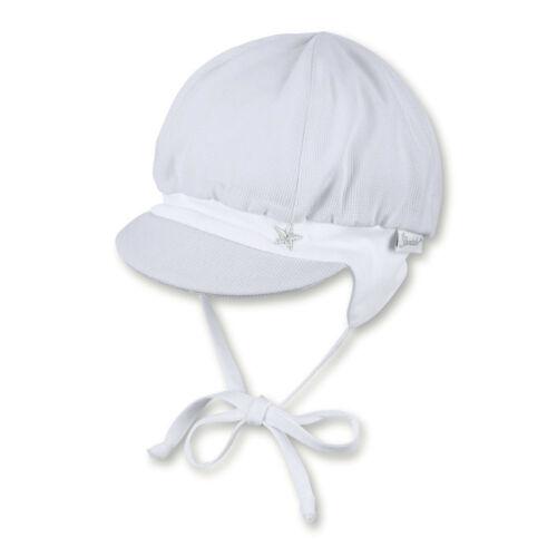Sterntaler Baby  Mütze Babymütze Schirmmütze Ballonmütze weiß 1602010