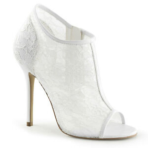 Wedding Dress Shoes.Details About Ivory Off White Lace Vintage Wedding Dress Shoes High Heels Womans 7 8 9 10 11