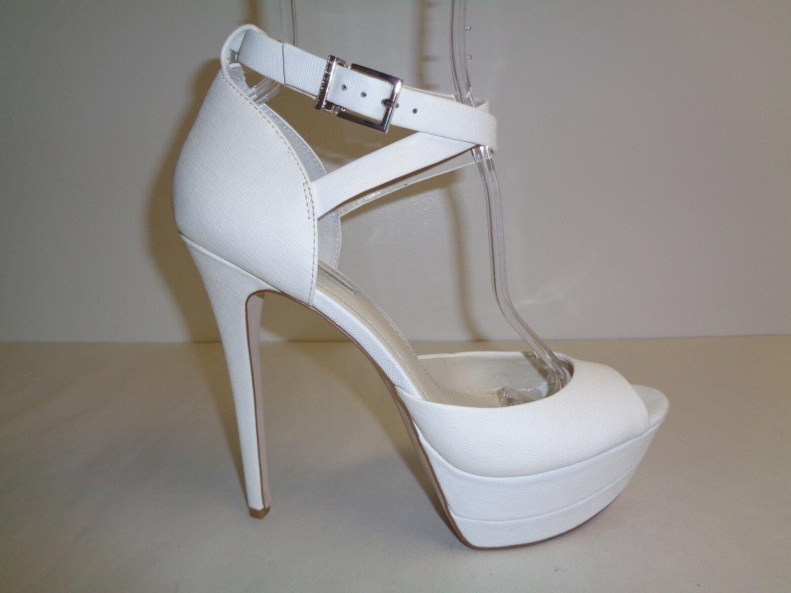 BCBGeneration BCBG Größe 9.5 M VIX2 WEISS Leder Heels Sandales NEU Damenschuhe Schuhes