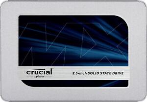 CRUCIAL MX500, 2 TB SSD, Interner Speicher, 2.5 Zoll, intern