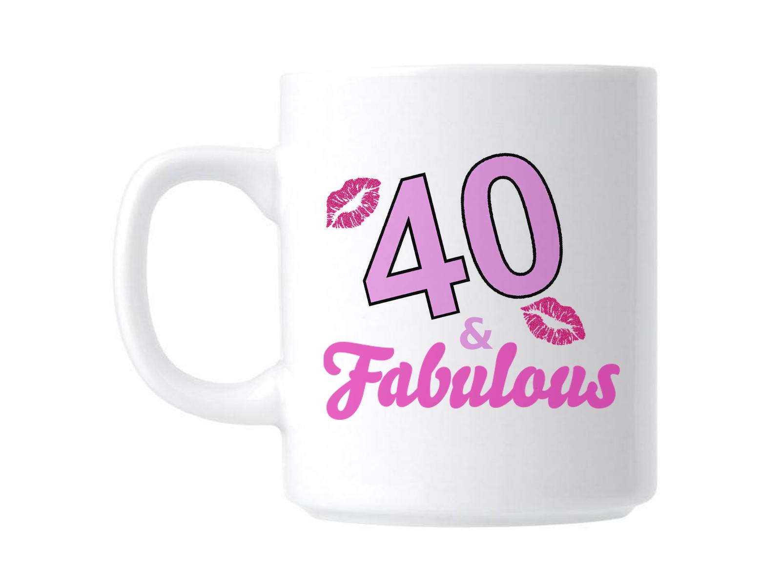 40th Cumpleaños 40 y fabuloso Taza de Regalo de Novedad