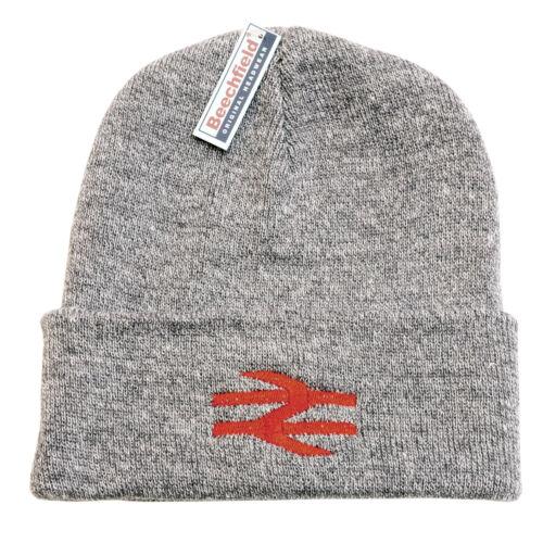BR British Rail Beanie Hat Heather Grey with Red Arrows