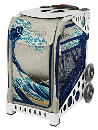 ZUCA Bag GREAT WAVE Insert & White Frame w  Flashing Wheels