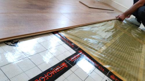 Chauffage Au Sol Kit Film infrarouge Chaud Tapis de sol stratifié carrelage sol Radiateur 2.5 m²