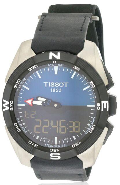 43d3fc36762 Tissot T-touch Expert Solar Black Dial Leather Strap Men s Watch  T0914204604100