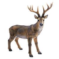 Buck Deer Statue Big Rack Sculpture Lawn Ornament Art Hunter Game Garden Stag