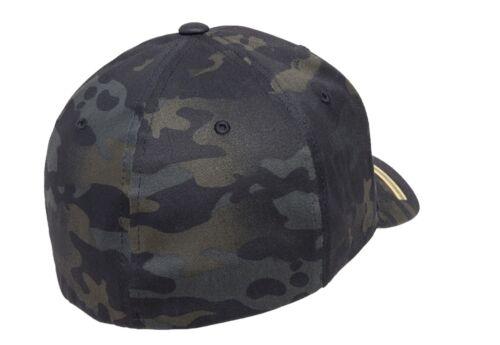 UKOM Flexfit Shooters Cap Crye MultiCam Black Military Baseball Cap Police