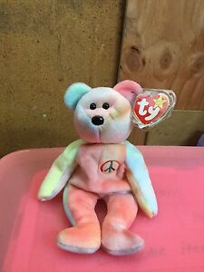 Image is loading Ty-Beanie-Baby-Peace-Bear-1996-RARE-TAG- ef5c50696d6