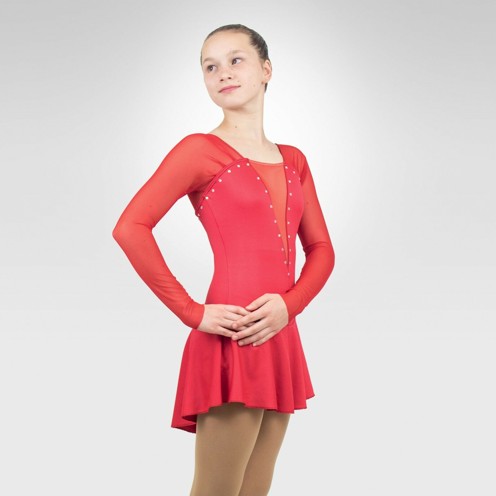 Ice Skating Figure Skating Red Dress size XSMALL adult