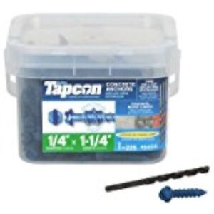 """ITW Brands 24515 1/4"""" x 1-1/4"""" Tapcon Hex Washer Head Concrete Anchor (225 Pack)"""