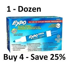 Expo Low Odor Dry Erase Markers Bullet Point Blue Box Of 12