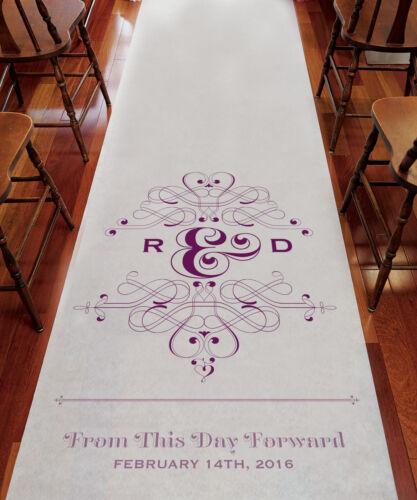 Fanciful Monogram PERSONALIZED Aisle Runner Wedding Ceremony Decoration
