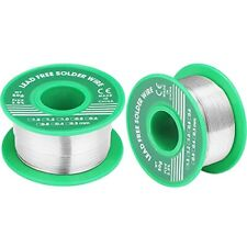 2 Pieces Lead Free Solder Wire Sn993 Cu07 With Rosin Core For Electrical Pc