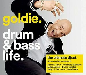 GOLDIE DRUM & BASS LIFE 4 DISC CD ALBUM- ULTIMATE DJ SET *New & Sealed* #