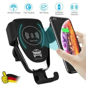 qi auto kfz handy halterung induktions ladeger t clamping car wireless charger s ebay. Black Bedroom Furniture Sets. Home Design Ideas