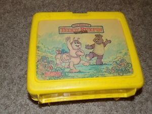 Vintage The World of Teddy Ruxpin Yellow Plastic Lunch Box No Thermos