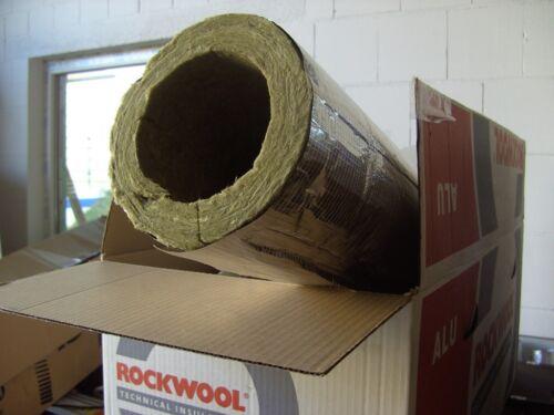 Kaminrohrschale alukaschiert ROCKWOOL R 800 Rohrschale 1 m Rauchrohrschale