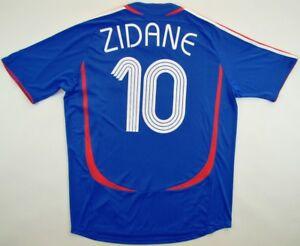 France World Cup 2006  10 Zinedine Zidane shirt FFF Adidas jersey ... e0e771e83
