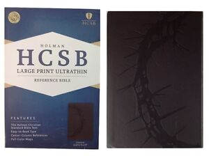 Holman-HCSB-Large-Print-Ultrathin-Reference-Bible-Charcoal-Leather-Touch