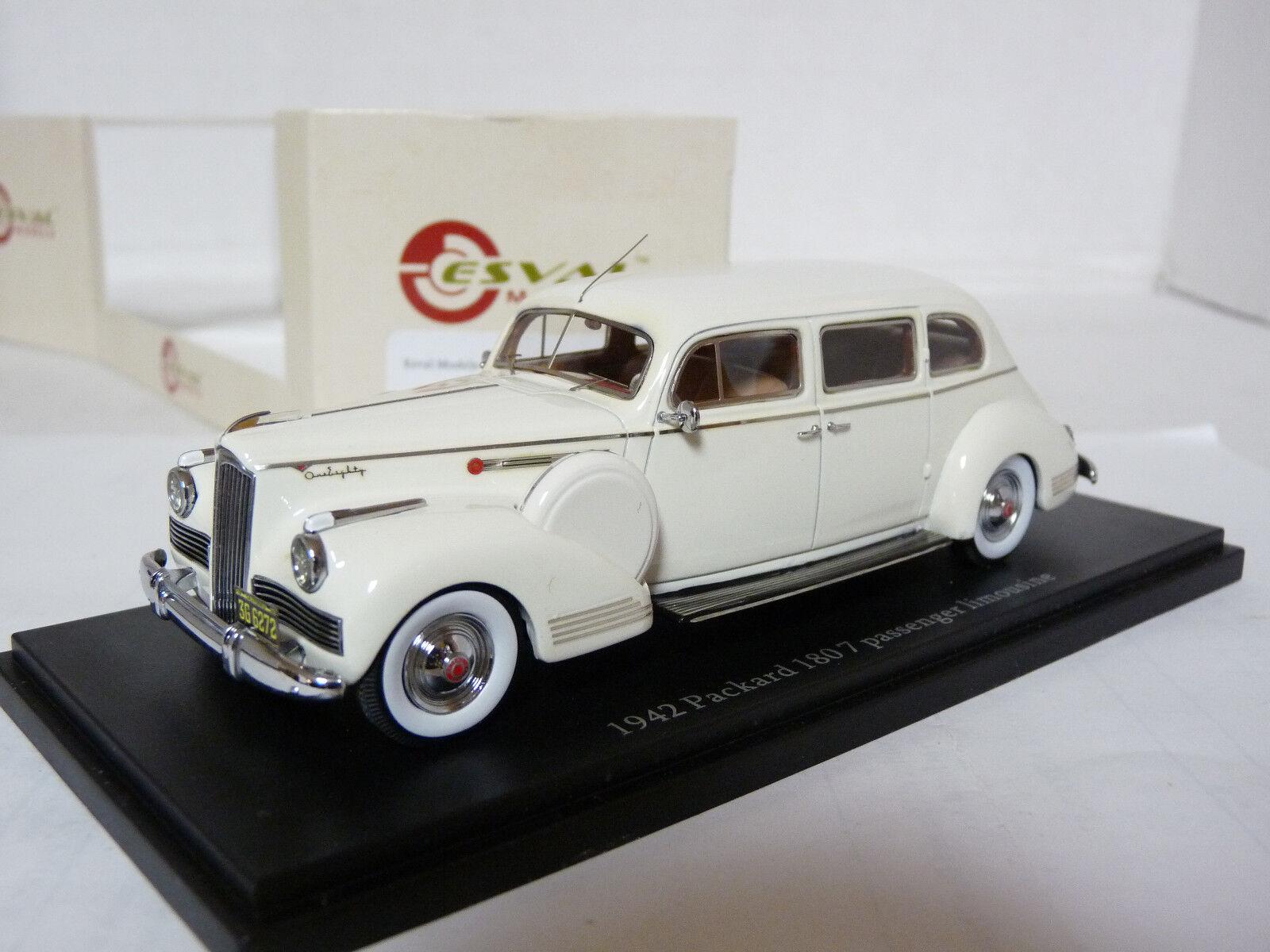 Envíos y devoluciones gratis. Esval emuspa 43000000002B 1 43 1942 1942 1942 Coche Modelo de Resina limusina Packard 180  los clientes primero