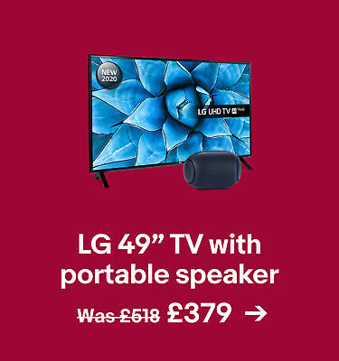 """LG 49"""" TV with portable speaker £379"""