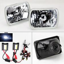 "7X6"" 8000K HID Xenon H4 Crystal Glass Headlight Conversion w/ Bulbs Pair TOYOTA"