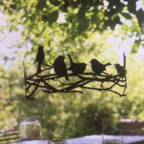 Oiseaux sur astring Edelrost couronne pour Coque//Orchidée//pendre 35 cm S