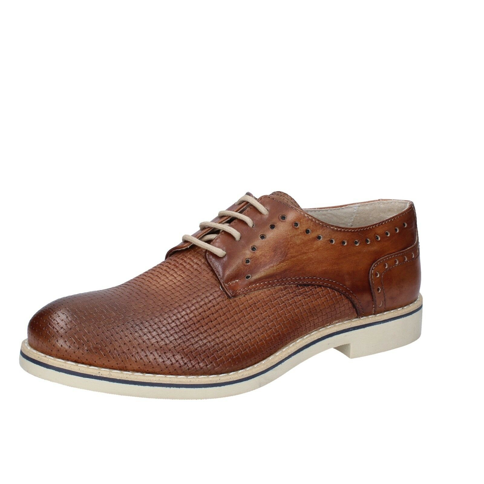 Mens shoes OSSIANI 8 (EU 42) elegant brown leather BT879-42