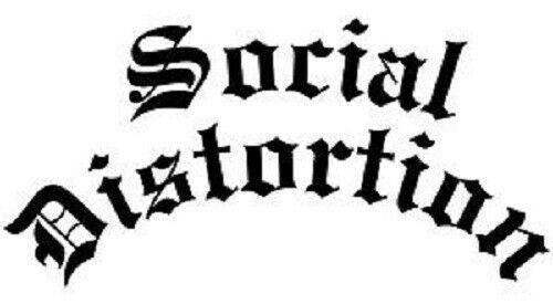"Large 11/"" Social Distortion Punk  die cut vinyl decal sticker auto music rock"