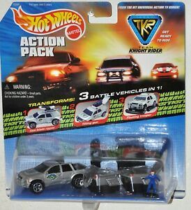 Hot-Wheels-1998-Action-Pack-TKR-Team-Knight-Rider-Dante-amp-Kyle-figure-MOC