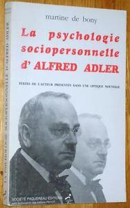 Martine-de-Bony-LA-PSYCHOLOGIE-SOCIOPERSONNELLE-D-039-ALFRED-ADLER-psychotherapie