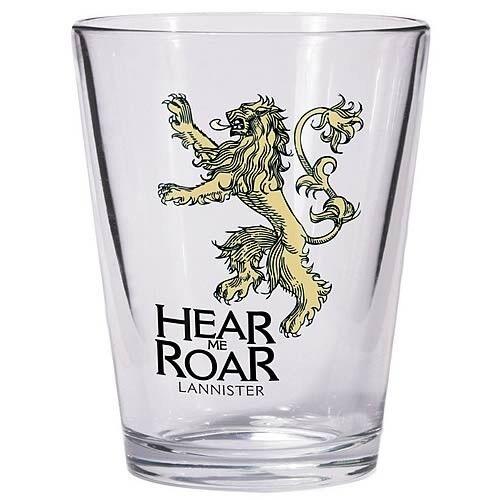 GAME OF THRONES Dark Horse New House LANNISTER Sigil Shot Glass Lion Hear Roar