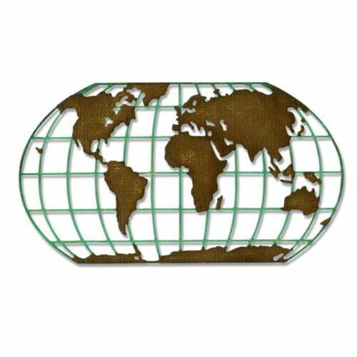 Sizzix Destination Die 664179 Tim Holtz Globe World Die