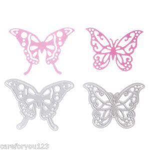 2pcs Butterfly Cutting Dies Stencil DIY Scrapbook Card Album Embossing Art Decor